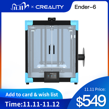 Newest CREALITY 3D Ender-6 Printer All- Mental Cubic structure Silent Mainboard Brand 350W power Large Plus Size 250*250