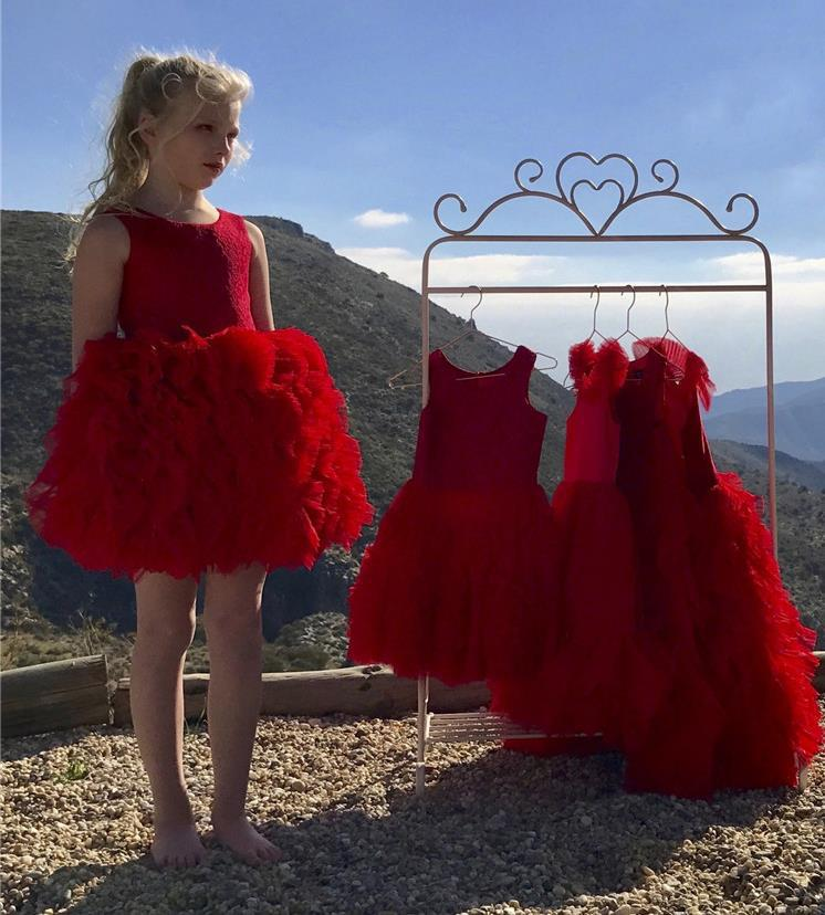 2019ins New Products Autumn Children GIRL'S Aristocratic Luxury Lace Princess Formal Dress 3-Color