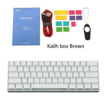 60% Mechanical Keyboard Bluetooth 4.0 Type-C RGB 61 Keys Kailh Box Switch Q6PA
