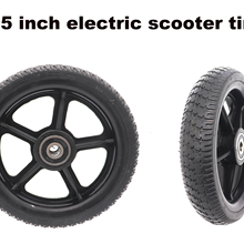 6.5 inch scooter solid non-slip tires part for electric bike motorcycle with non pneumatic rubber wheel and plastic hub