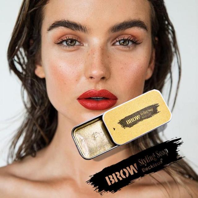 Beckisue Eyebrow Kit Pomade Cosmetics Makeup Gel Soap Cosmetics Balm Styling Eyebrow Tint Pomade Waterproof Brow Lasting 3D Wild 1