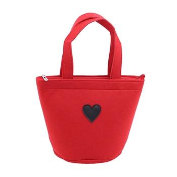Mini Cute Felt Bag Tote Felt Handbag Handbags Thickening Bento Bags For Women Ladies Female Small Pouch Pocket Shopper Bag Totes