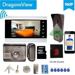 Dragonsview 7 Cal Wifi wideodomofon z blokadą bezprzewodowy System wideodomofonowy domofon telefoniczny odblokuj dzwonek z kamerą