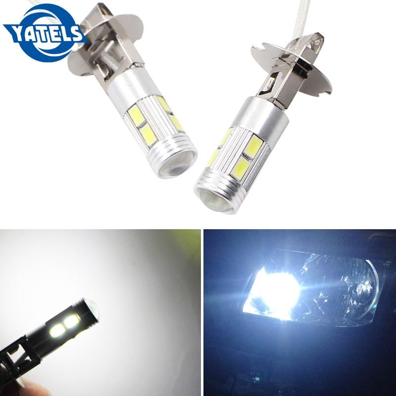 H3 10 LED 5630 SMD White Fog LED Auto Bulb Tail Turn Driving Light High Beam