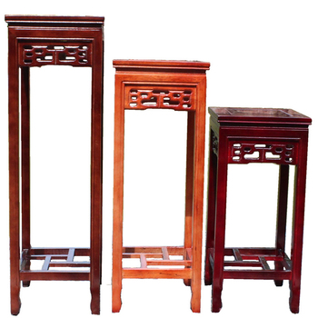 Room Imitation Redwood Hollowing Out Chinese Style Flower Several Multi-storey Square Ground Bonsai Flowerpot Frame