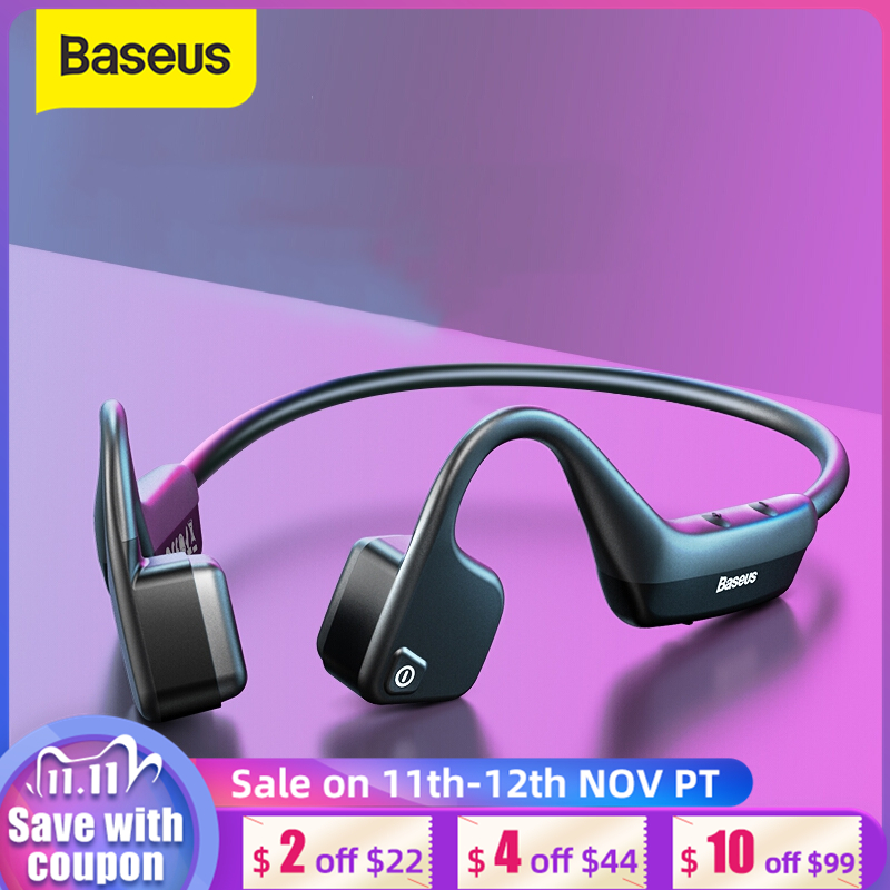 Baseus BC10 Bone Conduction Wireless Bluetooth Earphone Stereo Headset Sports Headphone Titanium Waterproof earphone For Running
