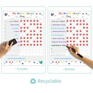 Image 4 - Magnetic WhiteBoard Kids Schedule for Fridge Sticker Weekly Planner To Do List Notepad Message Board Reward chart Art Sticker