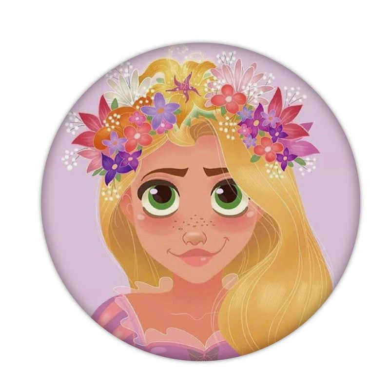 1 Pcs Cinderella Rapunzl Putri Ikon Plastik Pin Bros DIY Peri Lencana untuk Anak Perempuan Perhiasan Ransel Aksesoris Pakaian