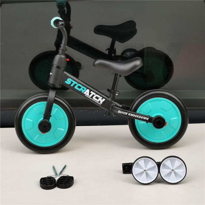 H032ab4587f694df581cfd999f5301861i Multifunction 2 in 1 Kids Tricycle + Balance Bike Bicycle For 2~6 Ages Child Toddler Complete Cycling Bike Learn to Ride