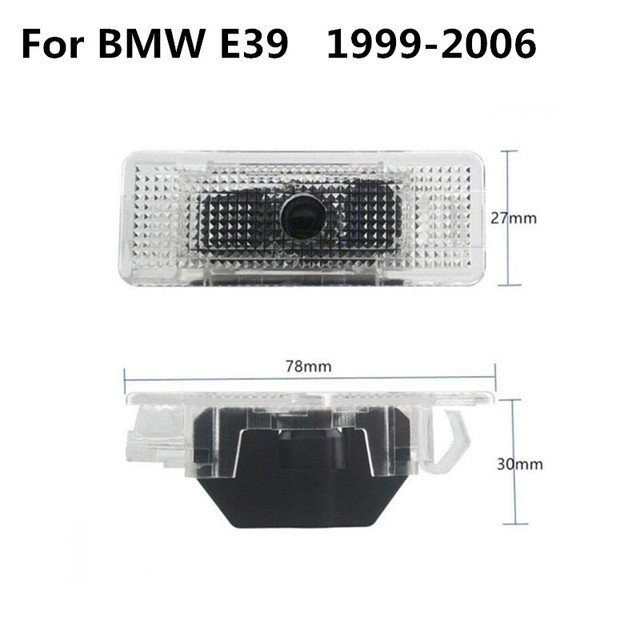 2X For BMW E39 E53 E52 M Performance M5 X5 528i 1998 LED 3D Car Door Welcome Ghost Shadow Courtesy Laser Logo Projector Light