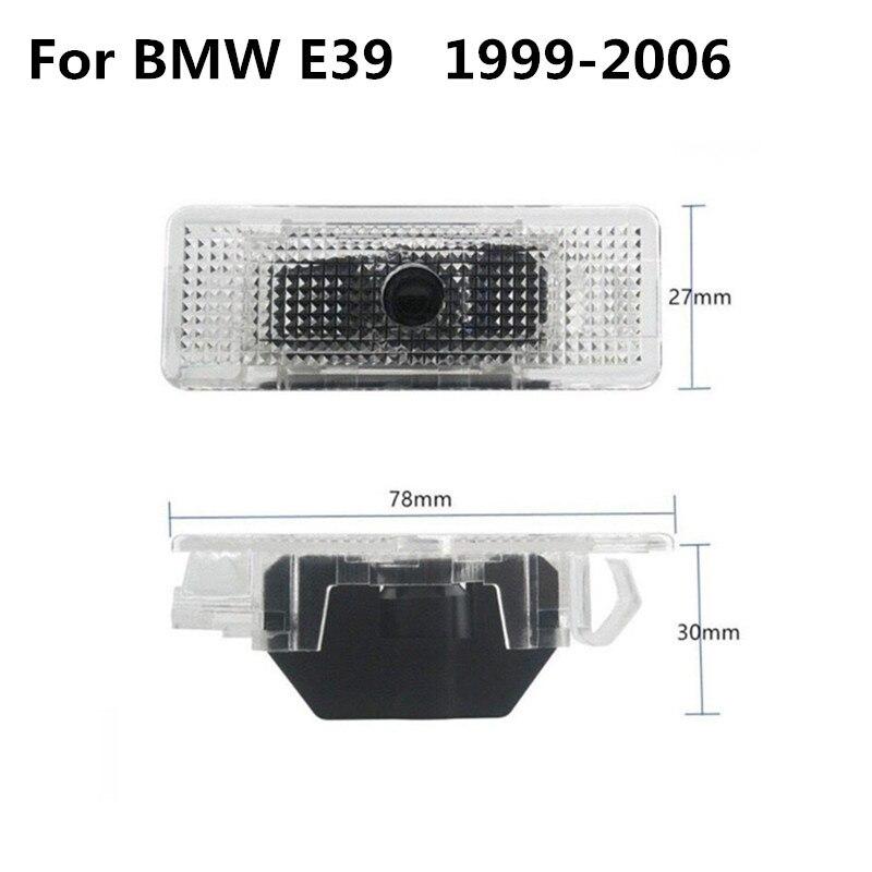 2x para bmw e39 e53 e52 m desempenho m5 x5 528i 1998 led 3d porta do carro bem vindo fantasma sombra cortesia logotipo laser projetor luz Lâmpada decorativa    -