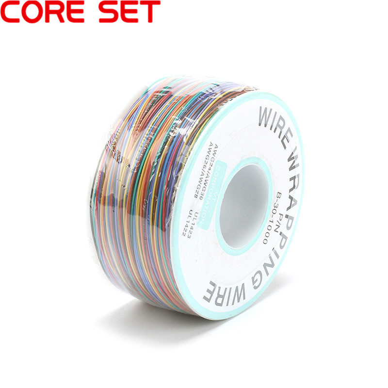 8 цветной провод обертывание 250 метров AWG30 кабель ОК провода Перемычка провода ПВХ электронный провод разъем для PCB обмоточный провод