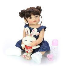 55 см полное Силиконовое виниловое тело Reborn Girl Реалистичная кукла-младенец новорожденная принцесса Малыш игрушка водонепроницаемый подарок на день рождения