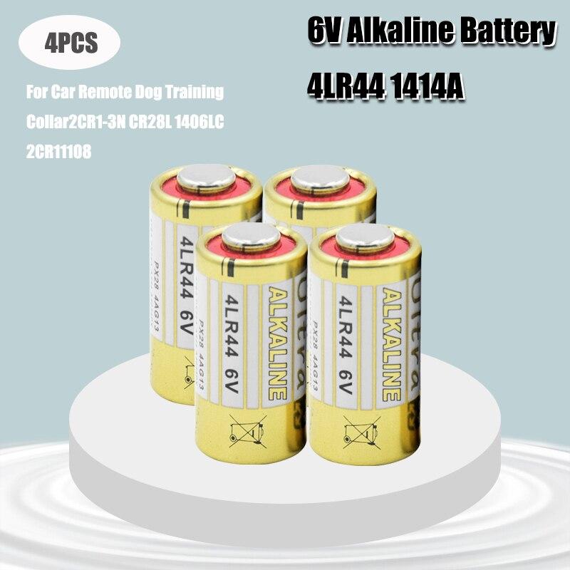 4 pçs/lote 4lr44 baterias secas primárias 476a l1325 6v células de bateria alcalina carro remoto assistir brinquedos calculadora navio da gota