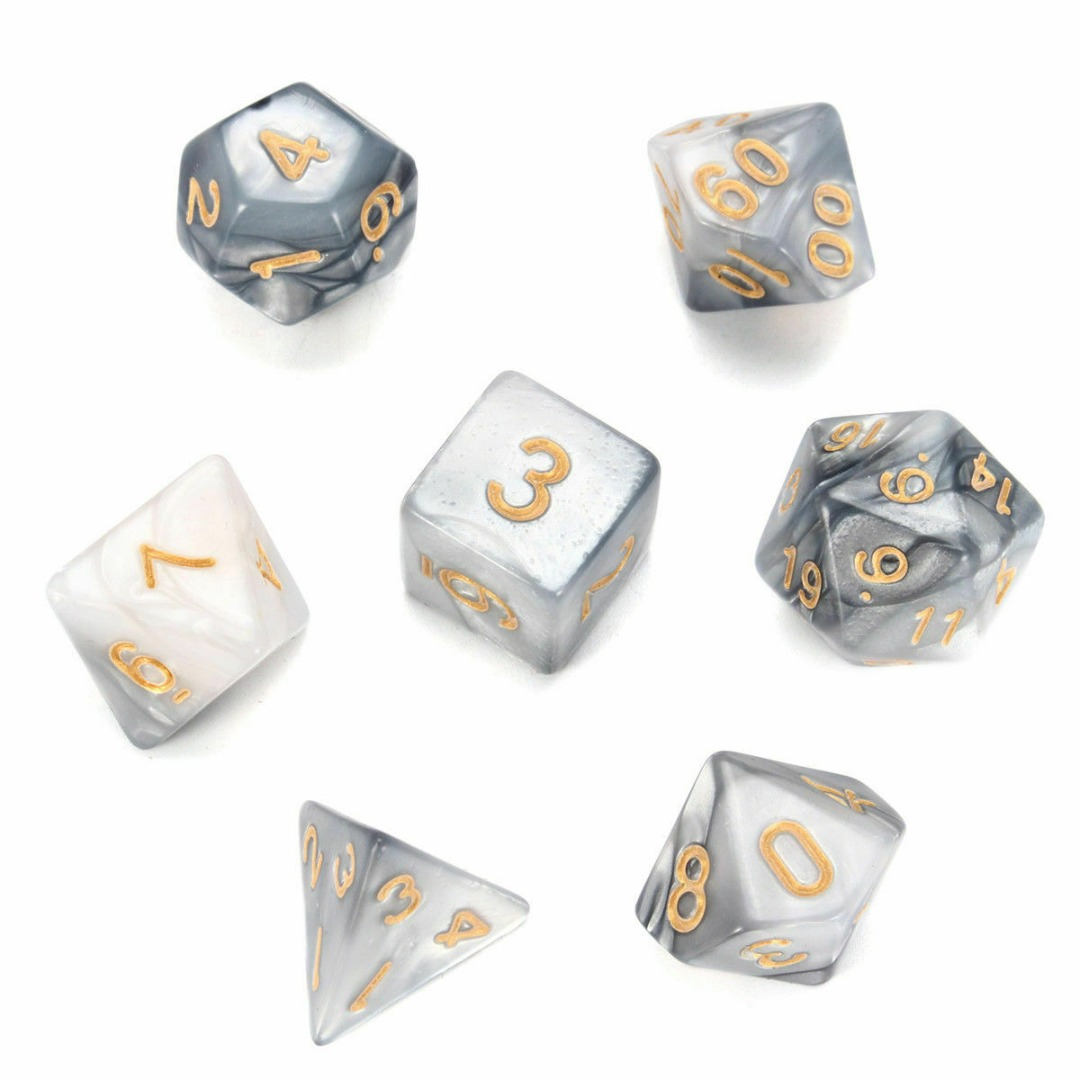 7pcs Acrylic Dice Multi Side Small Dices Set D4-D20 Digital Dice For DND RPG MTG Game For Dungeons & Dragons