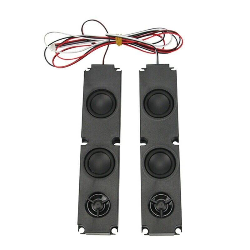 1 Pair 8 OHM 10W DIY LCD TV Speaker with Heavy Bass Effect Full Range Advertising TV Speaker Repair Accessories