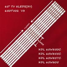 Bir Set = 16 adet Led aydınlatmalı KDL 65W850 650TV02 V3 CX 65S03E01 2B762 0A 565 3850 CX 65S03E01 2B753 0 A 5CN 3182 V 8 lambalar