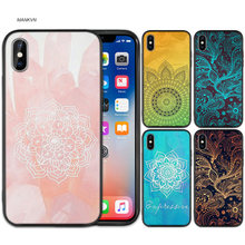 Leuke Mandala Zwart Rubber Zachte TPU Silicone Case Cover voor iPhone X XS XR XS 11 11Pro Max 7 8 6 6S 5 5S 5C SE Plus Fundas Capa(China)