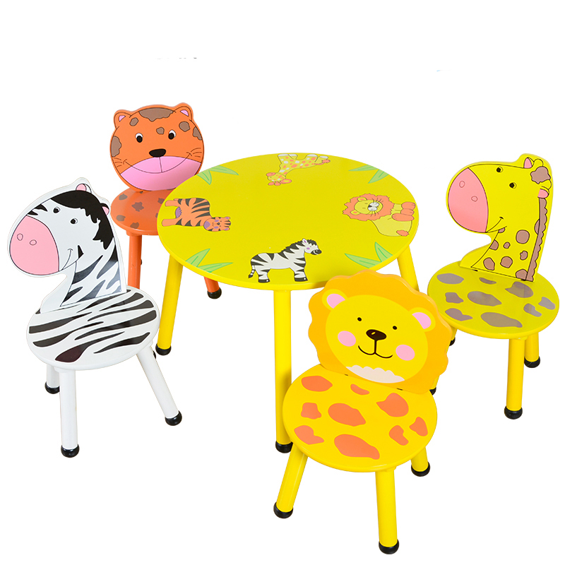Home Interactive Game Table And Chairs Children Cartoon Animal Table And Chair Set Kindergarten Game Table And Chairs