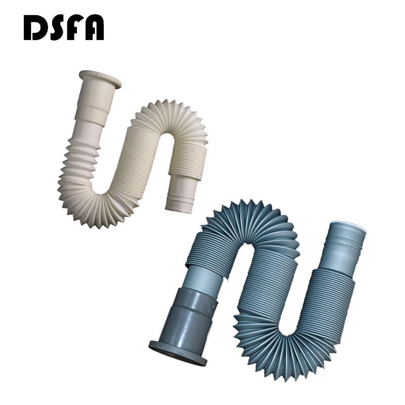 2PCS Plastic Cess-Pipe Drain Wash Basin Washing Machine Drain Plumbing Hose Kitchen Sink Hose Plomberie Flexible Drain Hose