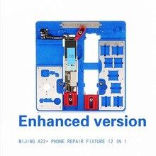 12 w 1 MIJING A22 + uchwyt do naprawy płyty głównej uchwyt PCB JIG BOARD dla iPhone 5S/6/6 S/6SP/7/7 P/8/8 P/XR platforma konserwacyjna