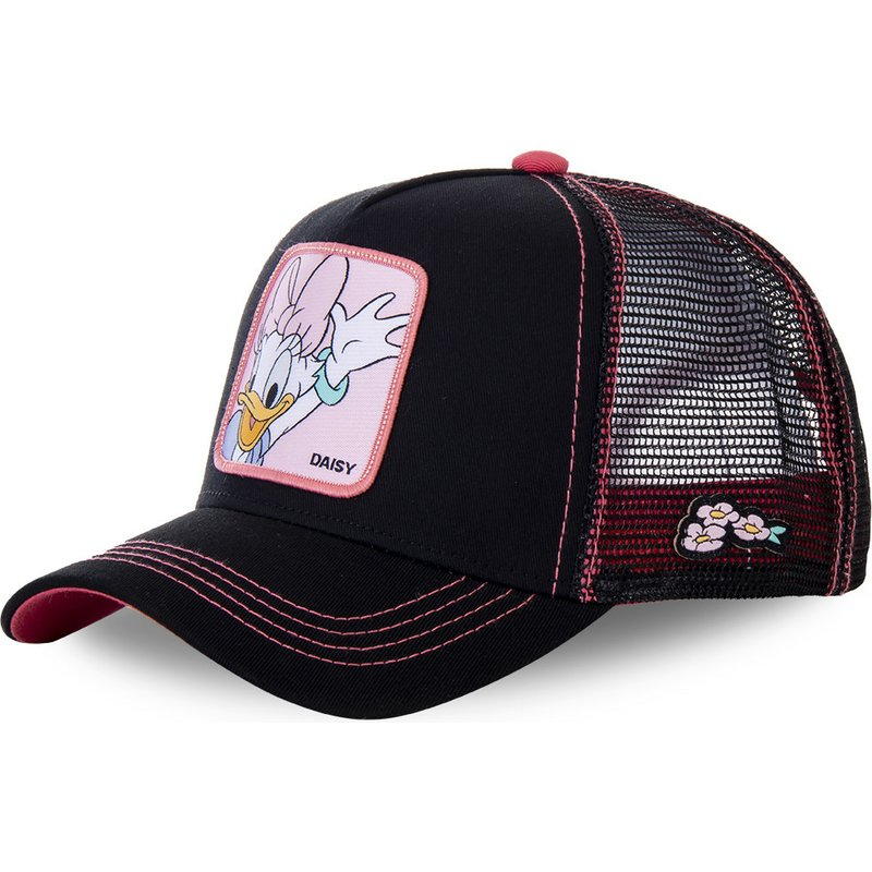 capslab-daisy-duck-dai2-disney-black-and-pink-trucker-hat