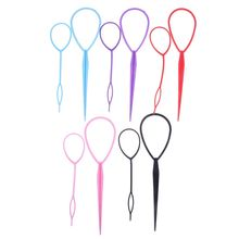 2pcs Ponytail Creator Plastic Loop Styling Tools Black Topsy Tail Clip Hair Braid Maker Styling Tool Hairstyle Hair Accessories