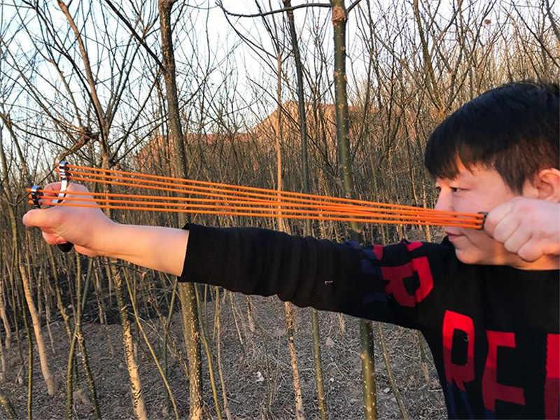 Meilleure vente de haute qualité en plein air chasse tir en alliage fronde puissante éjection et élastique adulte fronde jeu de tir