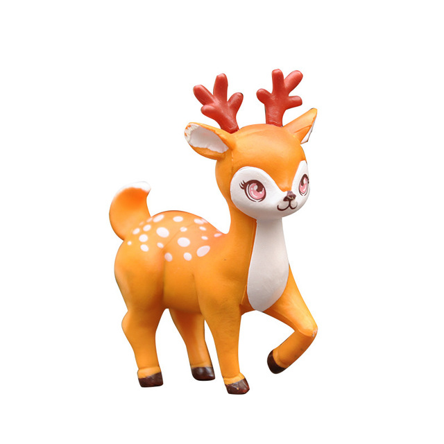 BAIFUOR 1 PC Forest Fairy Animal Sika Deer Fairy Garden Mini Figures Home Decoration Accessories Modern Christmas Gift Kid Toy 5