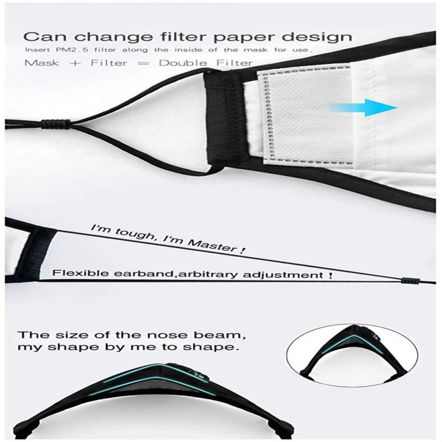 Easy Breathe Reusable and Washable Safety Dust Mask With 2 Filters