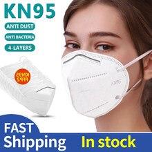 Fp2 ffp2 adultos máscara 5 camadas kn95 mascarillas filtro máscaras lavável máscara protetora facial fp2 adulto boca máscaras ffp2 filtro