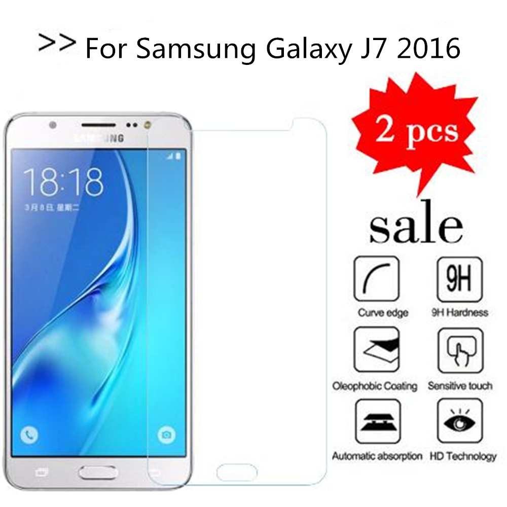2PCS Glass For Samsung Galaxy J7 2016 Screen Protector Tempered Glass For Samsung J7 2016 J710X SM-J710FN/DF Protective Film