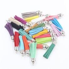 (10 pçs/lote 55mm 38mm mix cores comprimento camurça borla para chaveiro celular correias bolsas mochilas jóias encantos