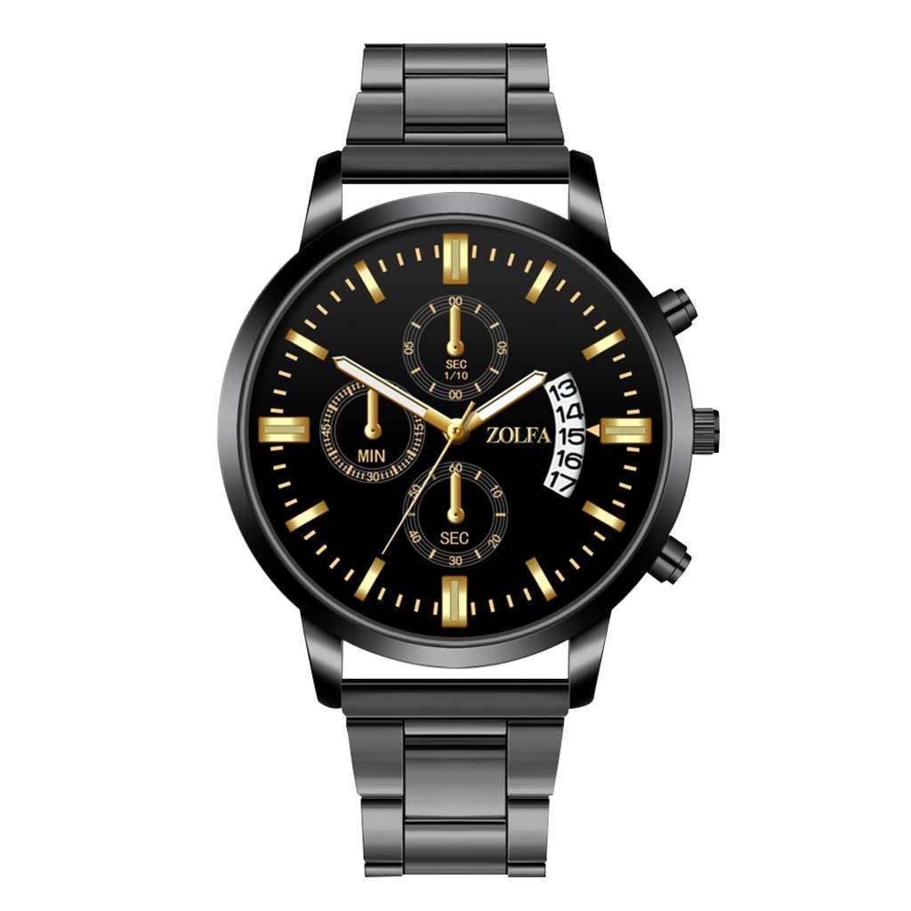 Watch Men Luxury Watches Quartz Watch Stainless Steel Dial Casual Bracele Watch  Wristwatch Clock Gift High Quality Clock#8