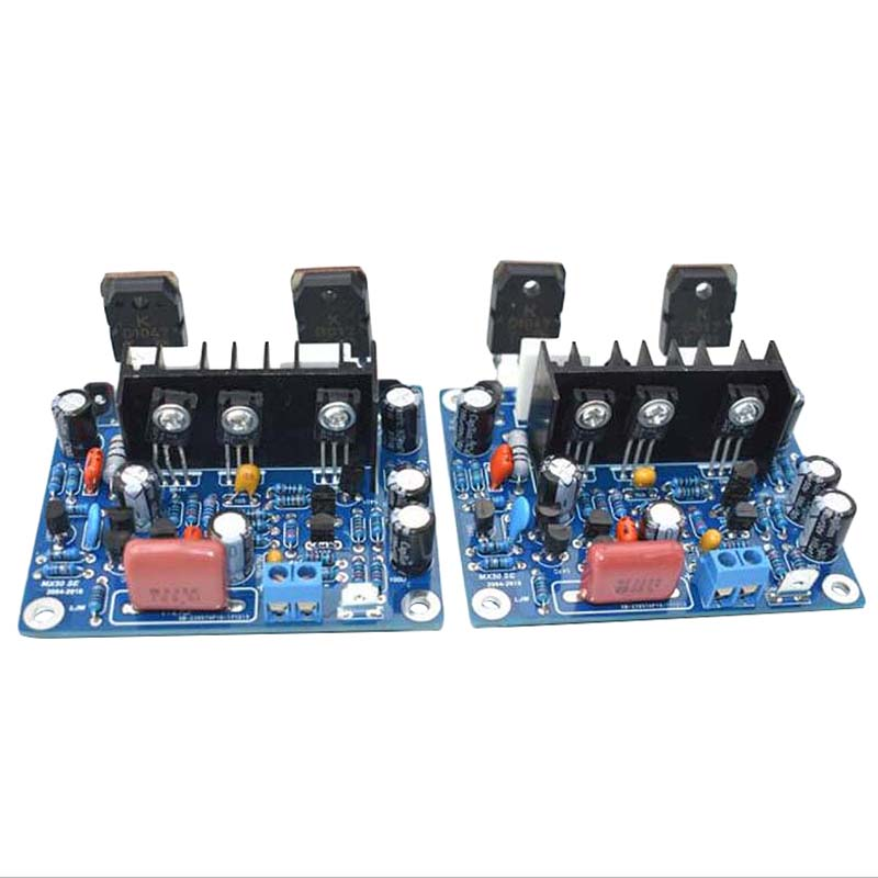2 pçs de alta fidelidade mx50 se 2.0 duplo canal 100w + 100 amplificador potência estéreo diy kit ciência brinquedos para entusiasta eletrônico