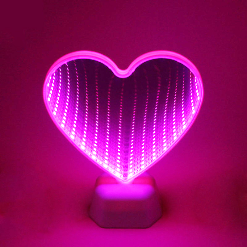 3D LED Night Light Love Heart Lamp For Indoor Home Bedroom Valentine Day Decoration Kid Girl Gifts