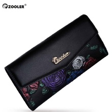ZOOLER hot women leather wallets designed embossed 2017 stylish purse small wallet famous brand  OL lady coin long purses 2953
