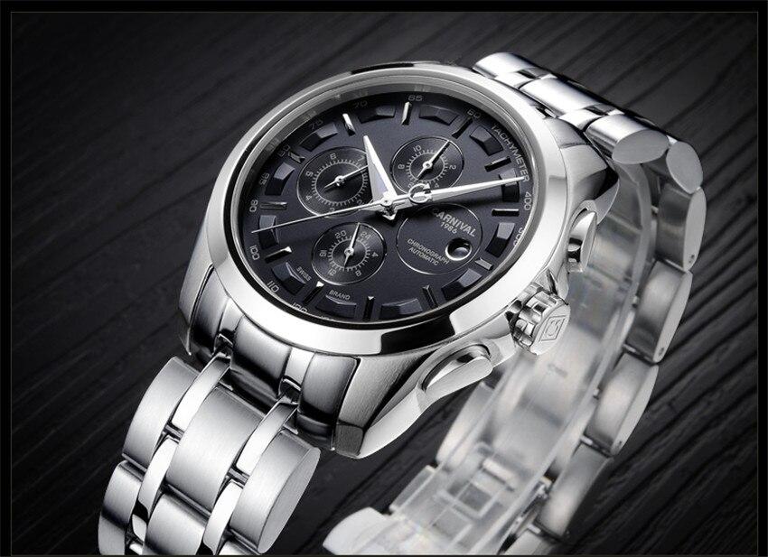 homens de luxo relógio de negócios masculino