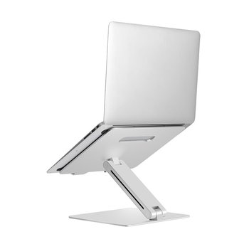 Folding Portable Laptop Stand Viewing Angle/Height Adjustable Quality Aluminum Alloy Bracket Single Pole Elevated Desktop Stand