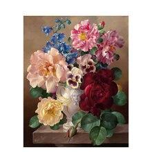 Ruopoty цветы diy живопись по номерам Акриловая каллиграфия