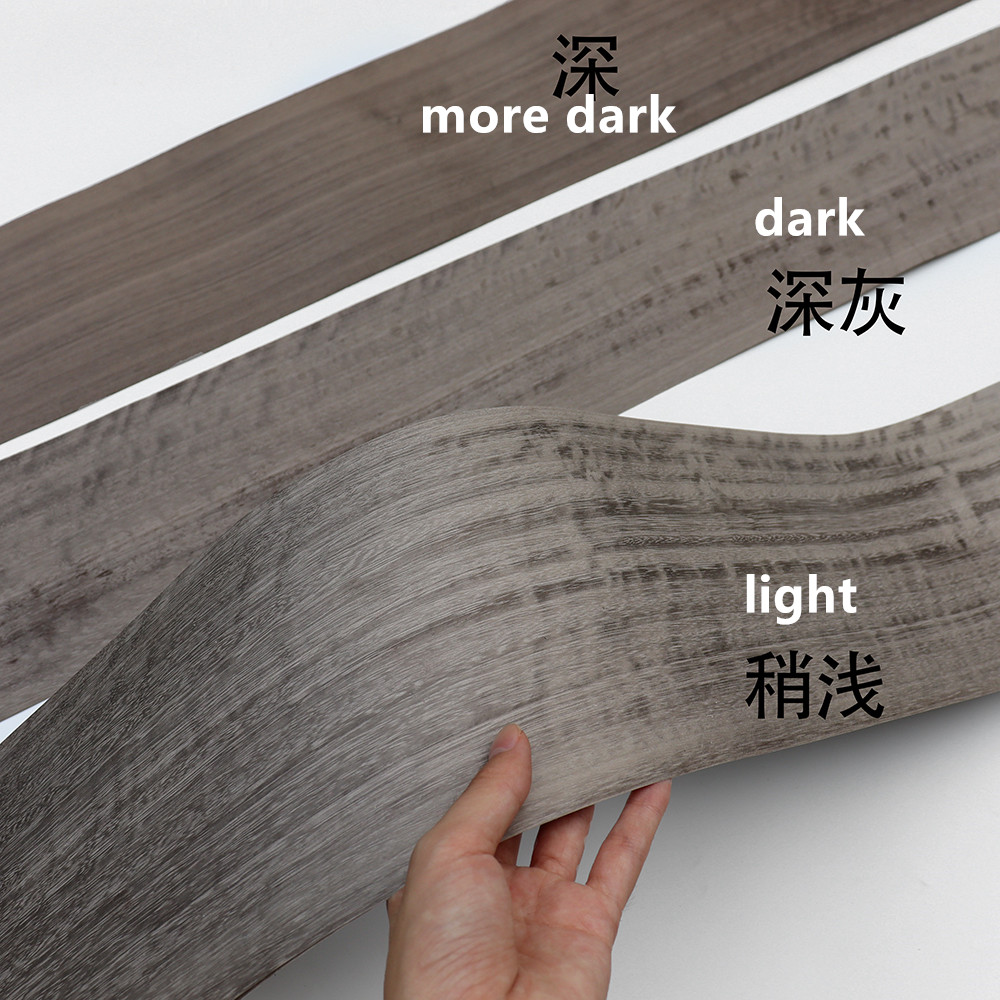 Natural Genuine Wood Veneer Sliced Nofigure Figured Primula Furniture Veneer Qtd Fig Dark Gray