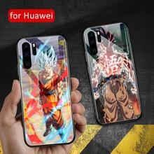 For huawei p30 lite Case Glass back cover Goku Dragon ball P