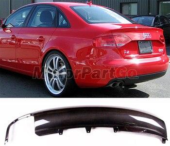 Car Style  Car PU Rear Carbon Fiber  Bumper Diffuser Lip Spoiler for Audi A4 B8 Standard Sedan 4 Door Only 2009 - 2012   A066 1