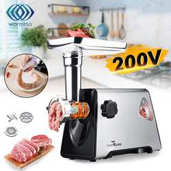 220V 800W 16000r/min Commercial Stainless Steel Meat Grinder 3 Knifes 3 Tubes Butcher Easy to Clean Durable Kitchen Appliances