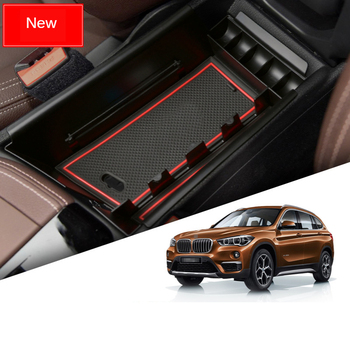 Car Interior Accessories Are Suitable for BMW X1 2016-2021 Model Car Central Armrest Box Storage Box Modified Storage image