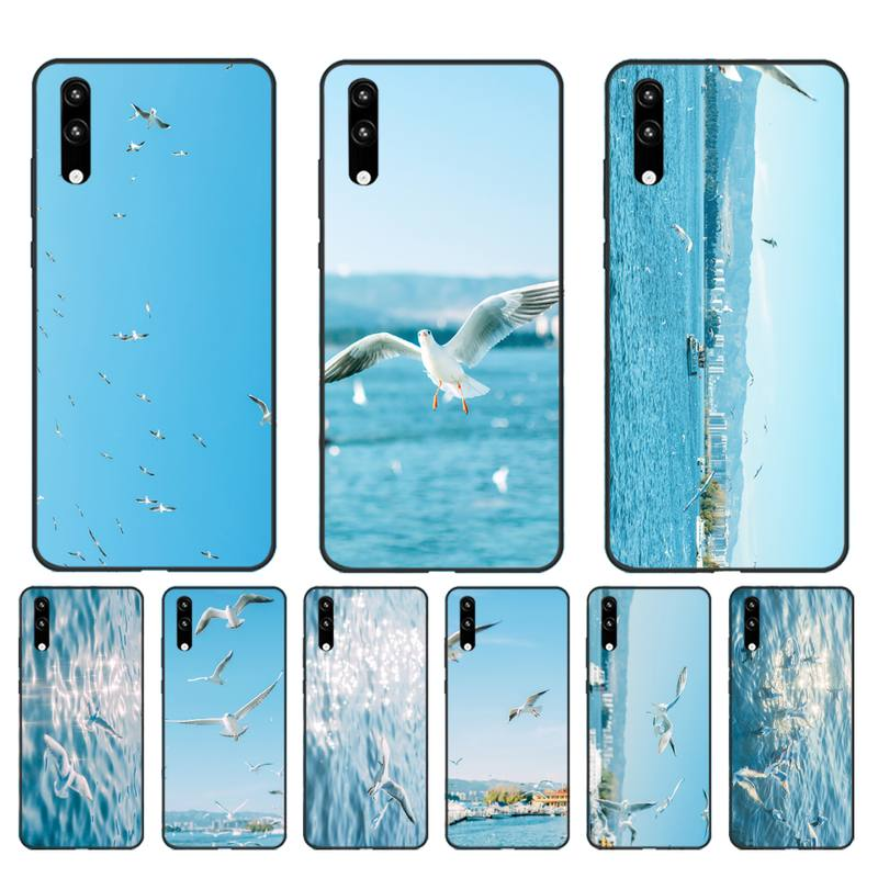 HTxian Seagull <font><b>Seabirds</b></font> summer seaside Luxury Unique Phone Cover for Huawei Honor8X 8A 9 10 20 Lite 10i 20i 7A 7C P20 30 40 Lite image