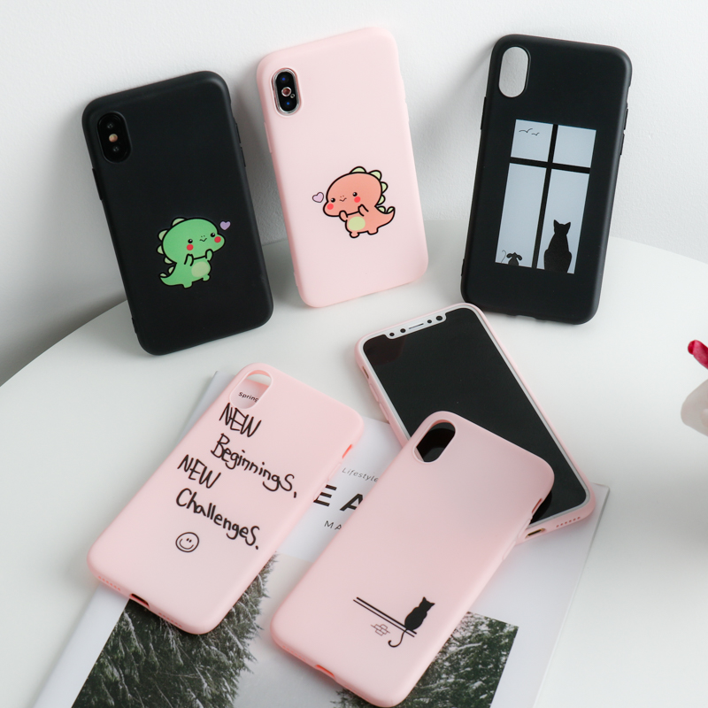 Case for <font><b>Xiaomi</b></font> Mi 9T A3 <font><b>9</b></font> 8 SE A2 Lite A1 Cases Soft Silicone Candy Painted <font><b>Cover</b></font> for <font><b>Xiaomi</b></font> PocoPhone F1 Mi 6 Play Mix 2S 2 image