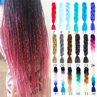 Extensiones de cabello trenzado de Ombre Pre estiradas Pageup pelo sintético Crochet Rosa Afro extensiones de cabello trenzado