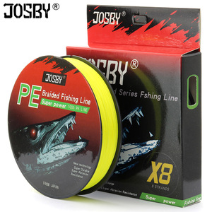 JOSBY Pesca 8 Strands Carp Braided Fishing Line Peche Pe Accessories Everything For Fly Cord Monofilament 100M 200M 300M 500M