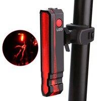 사이클링 램프 자전거 전면 후면 조명 접는 레이저 안전 경고 자전거 라이트 USB 충전식 방수 자전거 테일 후면 조명